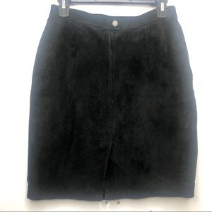 Dresses & Skirts - Vintage Genuine Suede Leather Pencil Skirt